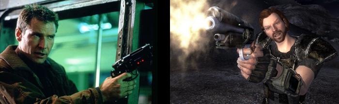 """Deckard's Gun and """"That Gun"""" from Fallout: New Vegas... true love."""